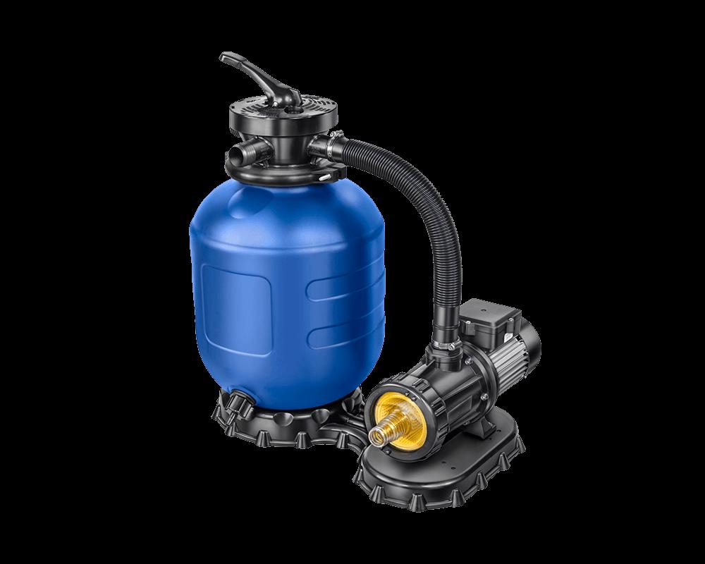 Sandfilter AQ 330 hier in Kombination mit einer Aqua Splash 4