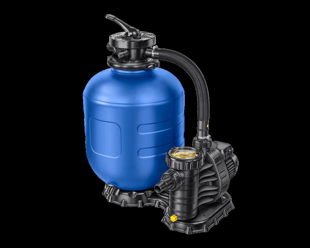 Sandfilter AQ 400 hier in Kombination mit einer Aqua Plus 4